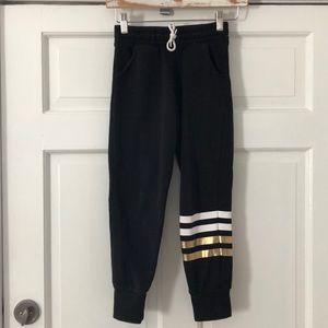 OLD NAVY Black/Gold Drawstring Sweatpants M/8
